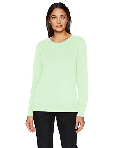 Amazon Essentials French Terry Fleece Crewneck athletic-sweatshirts, Bright Mint, L