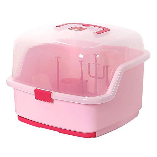 JinHongHuaMaoYi Portable Baby Bottles Storage Box Drying Rack Plastic Tableware Dry Case