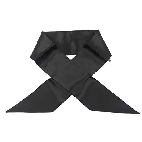 Minkissy Bandeaux en Satin Bord de Satin Pose Écharpe Bandeau Antidérapant Perruques Bandes de Maintien pour Femmes Filles (Noir)