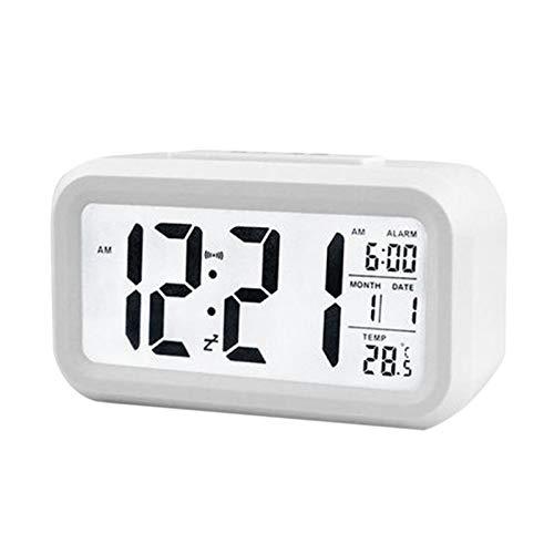Reloj de Alarma Personalizado Escritorio eléctrico Reloj Despertador electrónico Digital de Pantalla Grande Reloj Despertador Datos de Tiempo Calendario Reloj de Mesa (Colore : B)