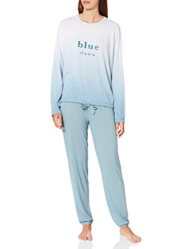 Women' Secret Pijama Largo Soft, Azul Claro, S para Mujer