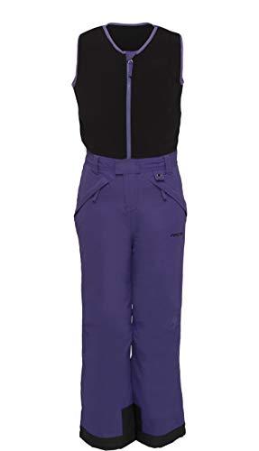 Arctix Kids Limitless Fleece Top Bib Overalls, Purple, Medium Regular