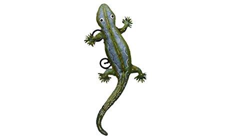 Echse, Gecko, Tierfigurfigur aus Metall, Teelichthalter, Wanddeko