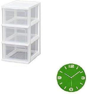 掛け時計付きセット (チェスト3段+掛け時計)