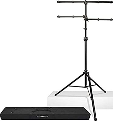 """ULTIMATE LT-99BL""""Patented TeleLock Collar Oversized Heavy Wall Aluminum Tubing"""" Lighting Tree Stand with Leveling Leg and Bag- Black"""
