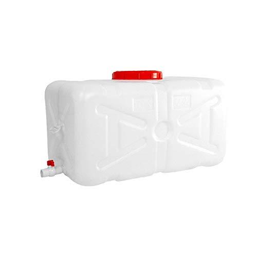 Unbekannt Q-L Food-Grade-Plastikeimer großes rechteckiges Dickes horizontaler Tank Haushaltswasservorratsbehälter im Freien (Size : 100L)