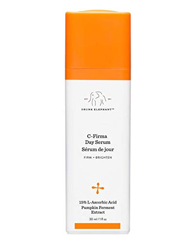 Drunk Elephant C-Firma Day Serum. Brightening and Tightening Face Serum with 15 Percent Ascorbic Acid (1 Ounce / 30 Milliliters)