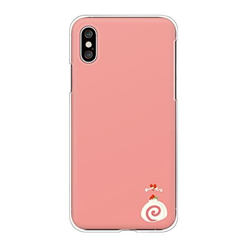 iPhone13 アイフォン 対応スマホケース 【D】ピンク スイーツ柄 ワンポイント ロールケーキ いちご ハート かわいい くすみカラー case6339