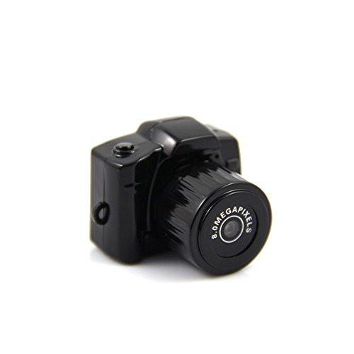 Mengshen Piccolo 1080 * 720p Super Mini Thumb Video Camera Recorder videocamera webcam DVR (nero) MS-Y3000