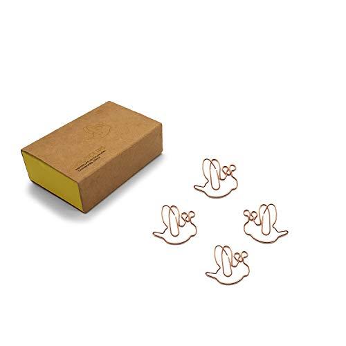 DESIGNMANUFAKTUR BERLIN GOLDCLIPS niedliche süße Deko Clips Büroklammern Heftklammern Lesezeichen Paperclip rose vergoldet in schöner Verpackung, Motiv Biene/Honey Bee