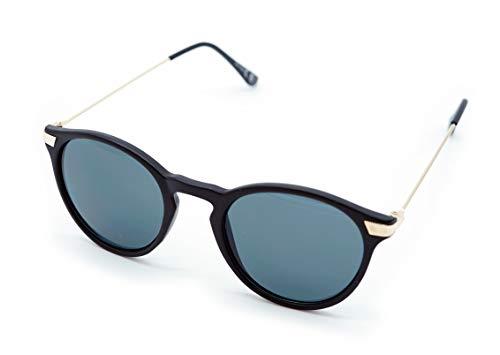 Kost Gafas de sol Hombre Mujer 100% protección UVA gafas Unisex UV400 - Clasica wayfarer (Negro)