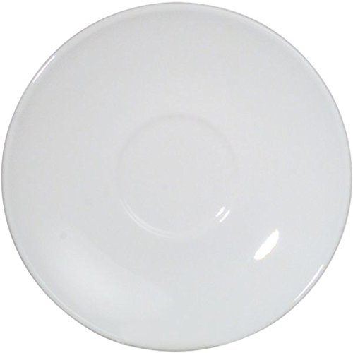 'Arcoroc'Hotel Erie Blanc de café en color blanco–Diámetro de 140mm–Opal Cristal–6Unidades