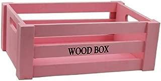 Acan Caja de Madera Vintage Color Rosa -15 x 38 x 28 cm