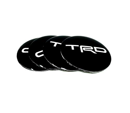 ZENGVO Car Emblem Badge Stickers Decals 3M Letters Logo Universal Fitment For TRD STICK pack of 2 MATTE BLACK