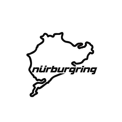 PENGPENG Etiqueta engomada del Coche 3D 14 cm * 12,5 cm Racing Road Racing Nurburgring Pegatinas y calcomanías Divertidas Pegatina de Vinilo en el Estilo del Coche-Negro