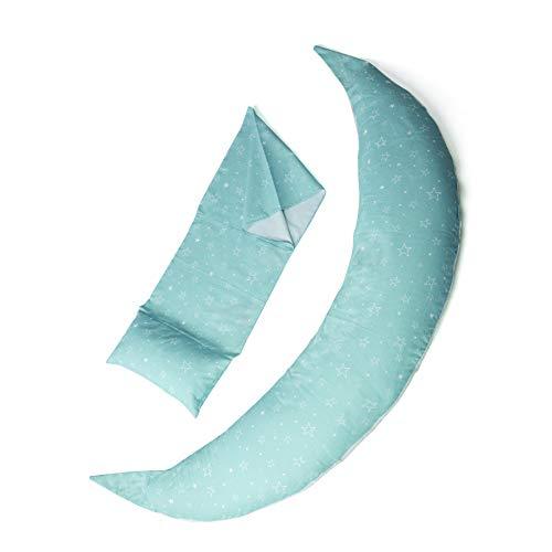 Nuvita 7101 Fundas para Dreamwizard Almohada Embarazo y Lactancia 12 en 1 Nuvita 7100 - Fundas de Tela Hipoalergénica y Transpirable para Cojín de Maternidad (Grey Star)