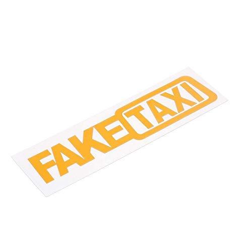 Mnjin Allgemeines 1 Set (2 Stück/Set) Fake Taxi Reflektierende Autoaufkleber Aufkleber Emblem Selbstklebende Vinyl-Aufkleber für das Auto-Styling Langlebige Autoteile
