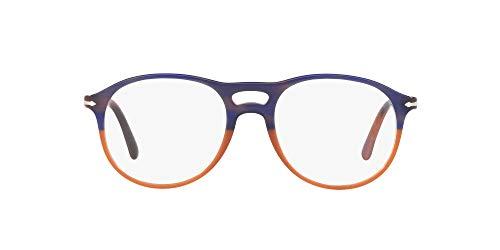 Persol 0PO3202V Monturas de gafas, Blue Striped Orange Gradient, 53 para Hombre