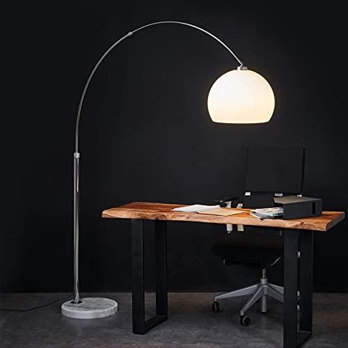 Lámpara de pie 'Fjella' (Moderno) en Blanco hecho de Metal e.o. para Salón & Comedor (1 llama, E27, A++) de Lindby | lámpara de arco, lámpara de pie