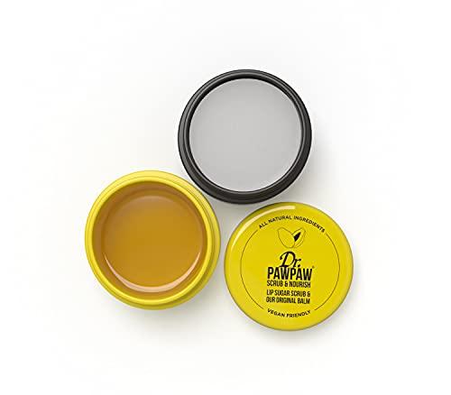 Dr. PAWPAW Scrub & Nourish 2 in 1 Lip Scrub and Original Balm, 1 x 15g