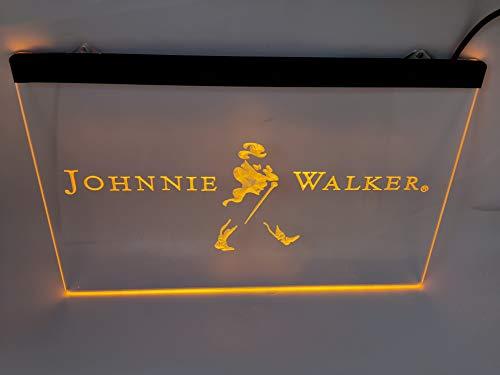yellow johnnie walker Bar Pub Led Light Sign