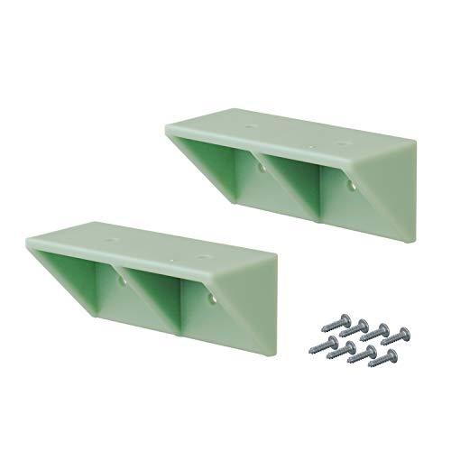 平安伸銅工業 LABRICO DIY収納パーツ シェルフサポート 棚受 DXV-52 ヴィンテージグリーン 2個入