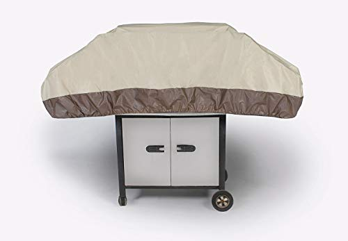 LB International Durable Outdoor Patio Premium Gas Grill Cover with Elastic Bottom - Taupe