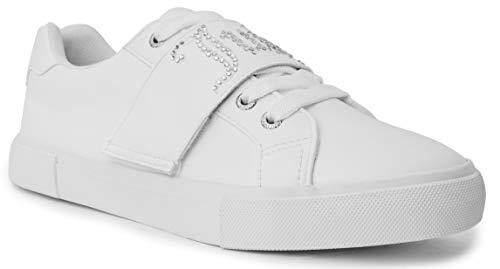 Juicy Couture Cartwheel Women Slip on Fashion Sneaker Casual Shoes Cartwheel White 6