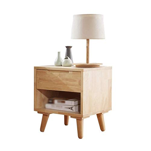 YUDIAN Bedside table - Chair Side Table Vintage Night Stand With Storage Shelf Corners Bedside Beside Cabinet for Living Room Bedroom Office Use 45 * 45 * 50cm