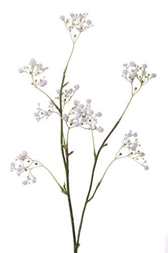 artplants.de Set 11 x Ramas sintéticas de Velo de Novia Asana, Blanco, 65cm, Ø0,5cm - Gypsophila Artificial - Pack de gisófilas de plástico