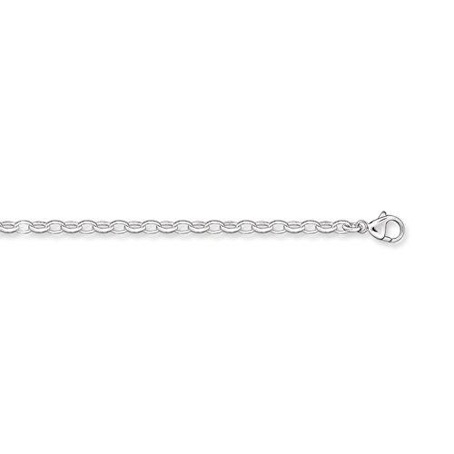 Thomas Sabo Charm Club 925 Sterling Silver Women's Charm Bracelet, 17 cm X0163-001-12-M