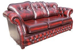 Designer Sofas4u Chesterfield Era 3 Places Canapé Traditionnel Chesterfield Canapé Antique Oxblood
