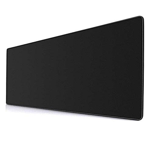 "YEBMoo Extra Large Gaming Mouse Pads/Extended Protective Office Desk Mouse Mat Non-Slip Professional Precision Tracking Surface (31.5"" x 11.8"") for PC Computer Laptop (80x30Black001)"