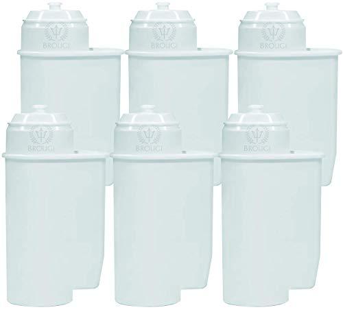 6x BROUGI für BRITA INTENZA Wasserfilter Siemens TZ70003 TCZ7003 TCZ7033 Bosch Verobar Filter 12008246 für Kaffeevollautomaten Siemens EQ Series EQ3 EQ5 EQ6 EQ7 EQ8 EQ9