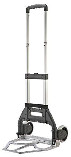 T-EQUIP FST-50S - Carretilla plegable, manual y compacta de aluminio, capacidad de carga 50 kg (negro)