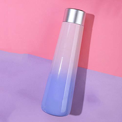 SIBEI Smart-Isolierung Wasserflasche, Anzeige Temperatur Kühlflasche Erinnern Trinkflasche, Intelligentes Lade Wasser Cup Männer Frauen Wasserflasche Geburtstags-Geschenke,Lila