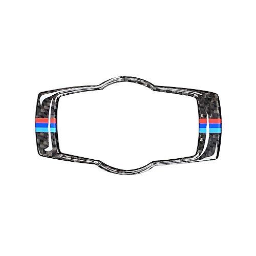 IJeilo Autozubehör Auto Dekoration Carbon-Faser-Innen Buttons Scheinwerferblenden Trim Styling-Auto-Aufkleber 3 Serien-Zubehör In-Car-Gadget (Farbe : J0691-3)