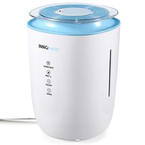 4,0L Luftbefeuchter Schlafzimmer Ultraschall mit Warmer Nebel & Filter, Leise Luftbefeuchter Aroma Humidifier Büro Wohnzimmer Automatische bis 50m²- WaterFall INNObeta