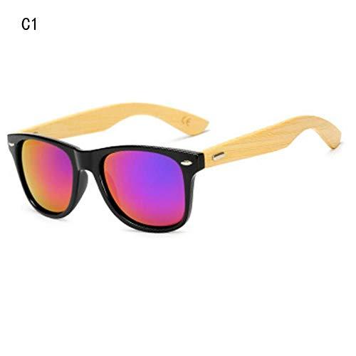 WSXOKN Gafas de sol Hombres Mujeres Gafas de viaje Gafas de sol Gafas de sol de Madera Vintage Gafas Gafas de sol