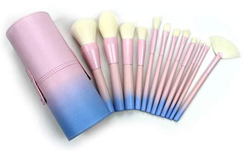 Youdong Stylo cosmétique de pinceaux 12 Cosmetic de Changement progressif de Poudre Bleue de Fibre Douce pour Le mélange de Fard à Joues Blush Concealers Ombres à paupières pinceaux