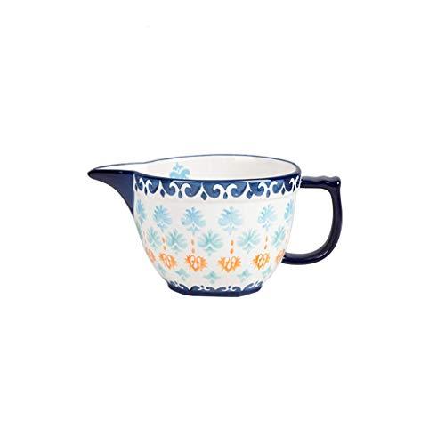 LLSS Cuenco de cerámica para Servir ensaladera para cocinar y Servir, práctico como Cuenco de Frutas o Cuenco de Pasta, fácil de Limpiar, Azul 9 Pulgadas