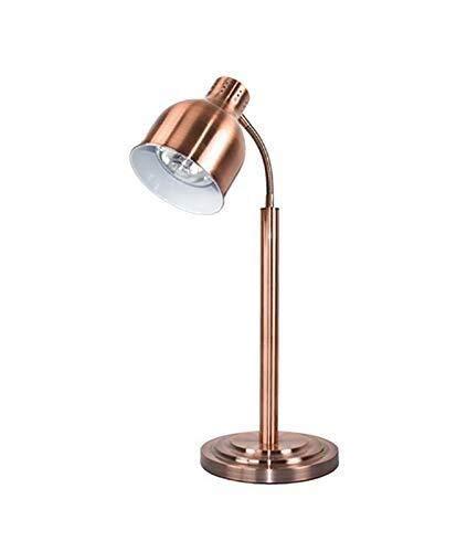Suge Lampada Calore Warmer Ristorazione Lampada riscaldante Cucina Commerciale Lampada riscaldante scaldavivande Lampada Portatile 250 Watt Lampada a Raggi infrarossi (Color : Brass)