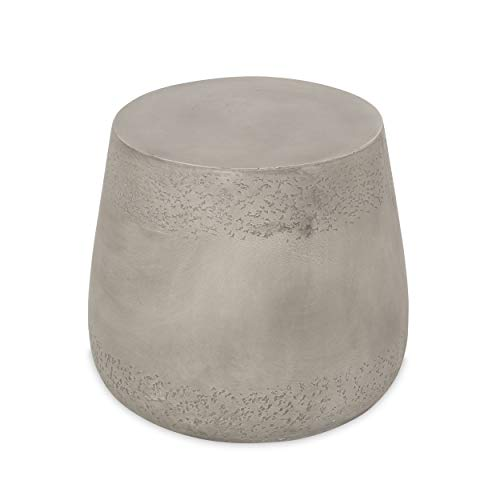 Christopher Knight Home Sidney Indoor Contemporary Lightweight Accent Side Table, Concrete Finish