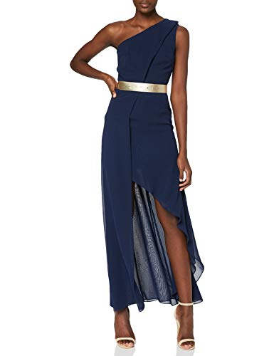 Swing Damen One-Shoulder Kleid, Blau (marine 300), 34
