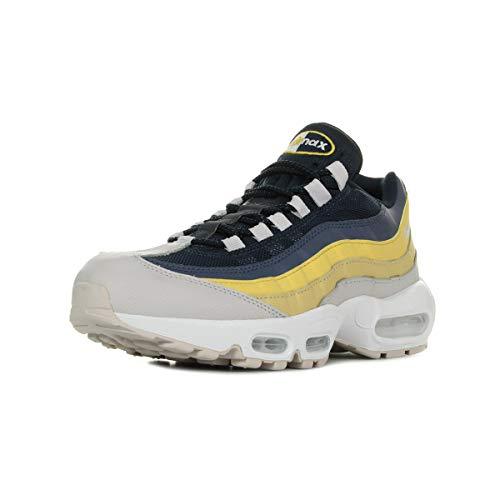 Nike Air Max 95 Essential, Scarpe da Ginnastica Uomo, Grigio (White/Vast Grey/Lemon Wash/Tour Yellow 107), 44 EU