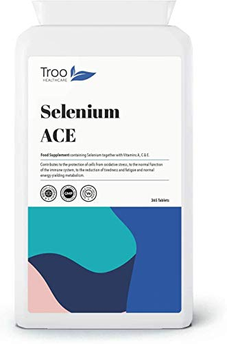 Selenium ACE 365 Tablets - Daily Supplement with Vitamins A, C & E - Antioxidant Immune Support - UK Manufactured to GMP Standards