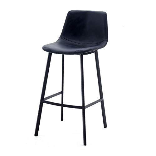 Silla de comedor de metal, resistente al desgaste, asiento artificial, taburete de bar, restaurante, cocina, bar, bar, bar, cafetería, tamaño (tamaño: altura del asiento: 65 cm)