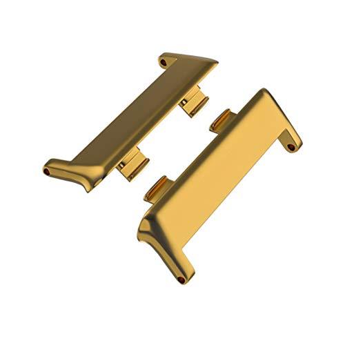 SGGFA 1 par de pulsera de reloj inteligente 316L adaptador de conector de acero inoxidable para reloj OPPO de 41 mm/46 mm, accesorios de correa de reloj (color dorado, tamaño: 41 mm (20 mm)