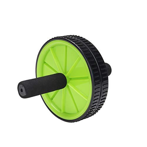 Mind Reader Bauchmuskeltrainer mit zwei Rädern für Zuhause, Fitness, Rumpftraining, Workouts, Schwarz/Grün