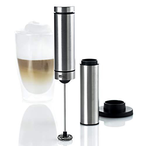 AdHoc MS10 Batteriebetriebener Milch- und Saucenschäumer RAPIDO mit Ständer, Edelstahl/Kunststoff